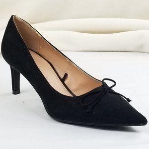 Zara Trafaluc 38 (US 7.5-8) Suede Pointed Toe Bow